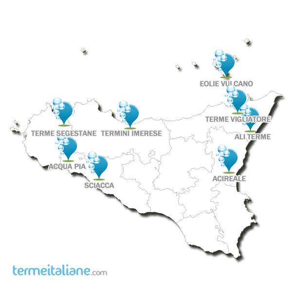 Cartina Sicilia Termini Imerese.Termeitaliane Com Terme Sicilia Cure Termali Sicilia